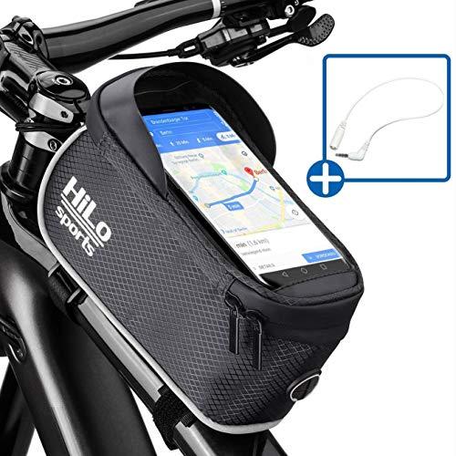 Rahmentasche Fahrrad für Smartphone am Oberrohr - Rad Oberrohrtasche wasserdicht - Handy Fahrradtasche Rahmen - Oberrohr Fahrradtasche Mountainbike