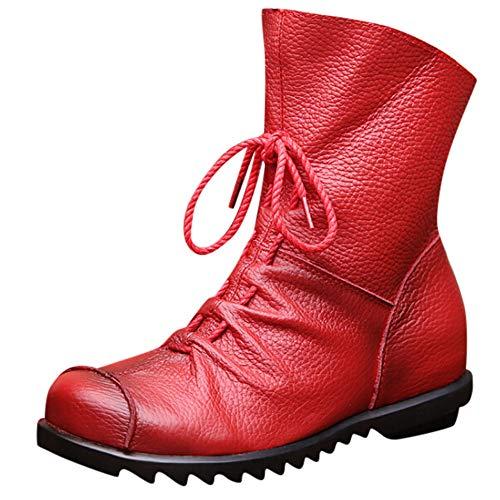 Niedrige Stiefel high Heels,Oliviavan Stiefeletten Schwarz Lederschuhe Elegant Chelsea Boots Damen Schuhe der einfachen ledernen Schuhe der einzelnen ()