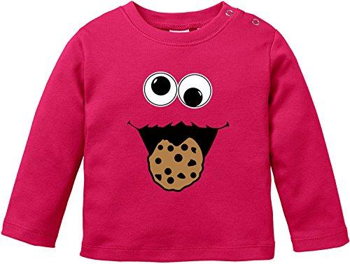 EZYshirt® Cookie Monster Baby T-Shirt Longsleeve Bio ()
