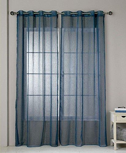 Rioma jerez 12 tenda con occhielli, colore: blu, 140 x 270 cm