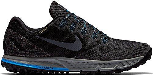 Nike Air Zoom Wildhorse 3 Gtx, Chaussures de Running Entrainement Homme Noir (Black (noir / gris foncé-photo loup gris-bleu))