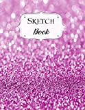 Sketch Book: Glitter   Sketchbook   Scetchpad for Drawing or Doodling   Notebook Pad for Creative Artists   #7   Purple