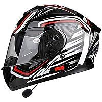 OUTO Casco Desmontable multifunción Anti-vaho Doble Lente Motocicleta Hombres y Mujeres Full Face Helmet