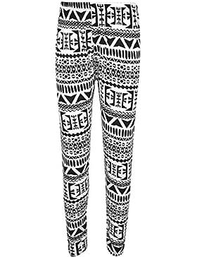 Janisramone Damas de Talla Grande Sexy Leggings Impresos elásticos Jeggings Pantalones 8-22