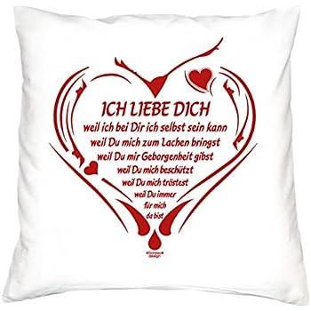 Gesschenkidee für Verliebte : Ich liebe Dich: Kissen : 40x40 ...