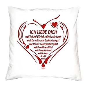kissen ich liebe dich geschenk zum valentinstag jahrestag geburtstag f r sie und ihn. Black Bedroom Furniture Sets. Home Design Ideas