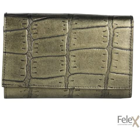 Portafoglio da donna Feleks M. bronzo pelle di coccodrillo