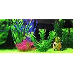 iNeith Fish Tank Plant Water Grass Aquarium Artificial Plastic Colorful Decor Ornament Decoration Submarine Pack of 5 12