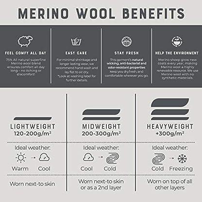 MERIWOOL Merino Wool Kids Hiking Socks for Children 3 Pairs 8
