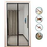 Fliegengitter Tür,Binwo Moskitonetz Tür mit vollständigem Türrahmen Klettverschluss,Fliegenvorhang Magnet zum Schutz vor Mücken und Insekten, Ideal für Kinder und Haustiere mit Anleitung Geeignet für Tür bis zu 34