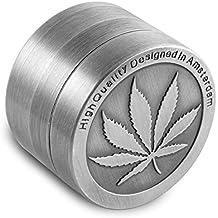 Formax420 Moledora de tabaco, aleación de zinc, 50 mm, 4 piezas, receptáculo para polvo, incluye escobilla