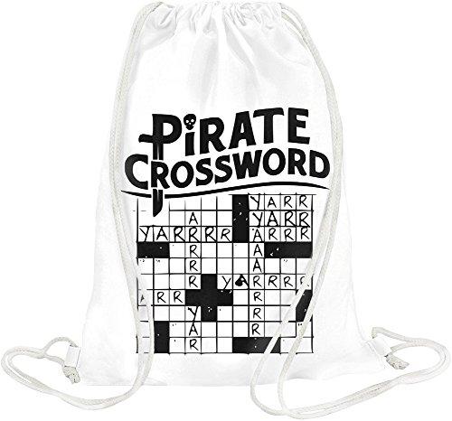 (Pirate Crossword Drawstring bag)