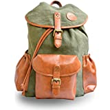 Paradox 20 ltr Jute Canvas/Vegan Leather Military green backpack Men's / women's