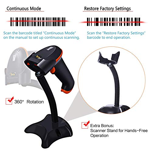 Tera Barcode Scanner Wireless Ve...