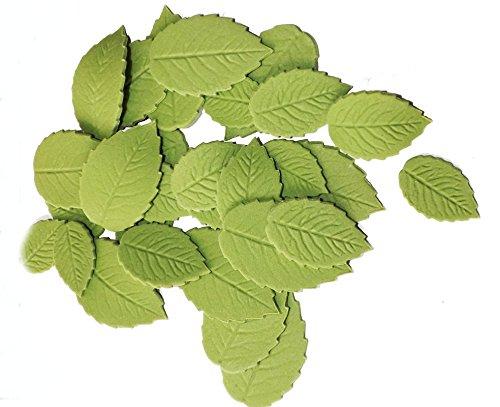 Zuckergrüne Gute Qualität Blätter Handarbeit hochwertige essbare Kuchen Dekorationen Hochzeit Geburtstag (Essbare Kuchen-blätter)
