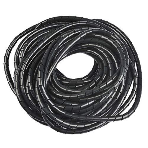 OFNMY Kabelschlauch Spiralband Spiralschlauch mit Einfädelhilfe 8mm Außendurchmesser, 12 Meter zum Bündeln von Kabeln bei PC, TV, HIFI-Anlage