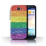 Personalizzato Gay Pride LGBT Personalizzato Custodia/Cover per Huawei Ascend G730 / Timbro Glitter Stampato Design/Iniziale/Nome/Testo Caso/Cassa