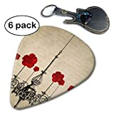 Chandelier with Flowers Vintage Home Antique Celluloid Guitar Picks 6 Pack.96mm