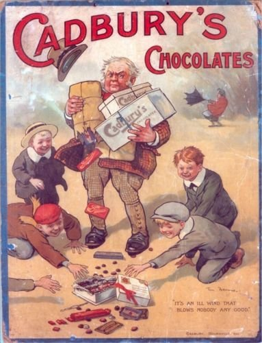 Cadbury de chocolats C'est un Vent qui Souffle Plus personne NE sera n'importe quel Bon Acrylique Aimant de réfrigérateur ou Peut être utilisé d'une plaque