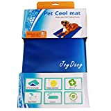JoyDaog Dog Cooling Mat for Extra Large Dogs Bed,Non Toxic Pet Self Cool Pads, 93 * 78cm XL