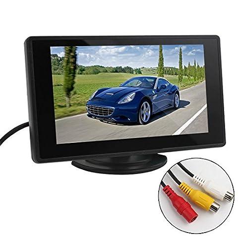 ePathChina 4.3 Zoll Digital TFT LCD Anzeige 2 Video-Eingang Rückfahrkamera