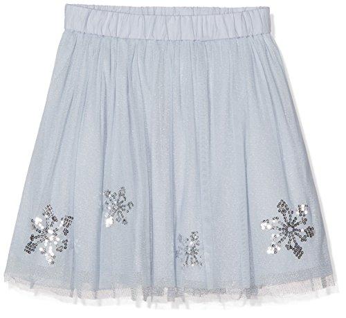 TOM TAILOR Kids Mädchen Rock Tulle Skirt with Glitter, Blau (Xenon Blue 6694), 134 (Herstellergröße: 128/134)