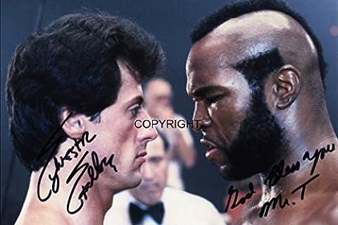 Limited Edition Stallone MR T Rocky Signiert Foto Autogramm signiertsigniertes