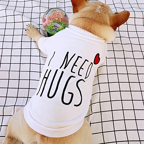 Garciadia Ich Brauche Umarmungen Weste niedlichen Design kleine Welpen Katze Kleidung Frühling und Sommer atmungsaktiv Teddy Hund Baumwollkleidung (Ich Brauche Ein Kostüm)