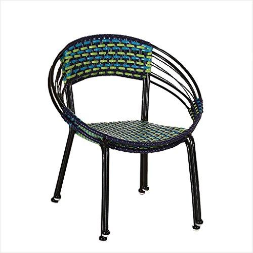 XIAOLVSHANGHANG HHCS Einzelperson Haushalt Bambus Cane Stuhl Stuhl Gartenstuhl Außen Balkon Stuhl...