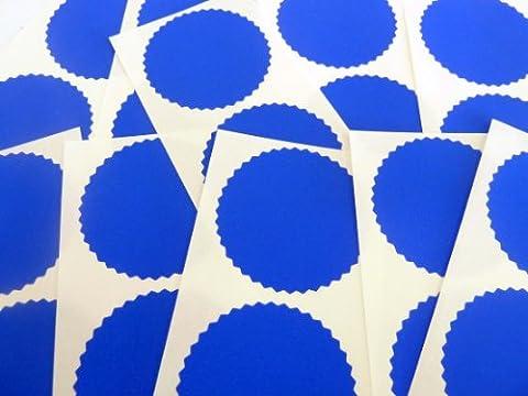 Mini sticker Pack, bord dentelé, 50mm, bleu royal, certificat Wafer Company sceller étiquettes, autocollants pour gaufrage, juridique & Awards