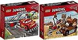 LEGO Juniors Disney Cars 2er Set 10730 10733 Lightning McQueens Beschleunigungsrampe + Hooks Schrottplatz