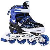 Best Inline Skates - OUTCAMER Adjustable Inline Skates with Light Up Wheels Review