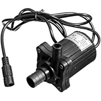 Bluelover Pompa 12V 500LPH CC senza spazzola sommergibile acqua pompa motore giardino (Filo Spazzola Della Ciotola)