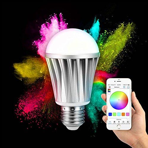 Ipad Birne (Pegasus ARILUX® AL-B01 E27 7W RGBW Bluetooth 4.0 Dimmbar LED Intelligente Birne für iPhone IPad und Android-Handys)