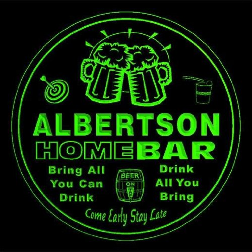 4x-ccq00449-g-albertson-family-name-home-bar-pub-beer-club-gift-3d-coasters