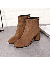 NSXZ bottes de fourrure bottes de neige épaisse rondes hiver chaud de la femme , 38