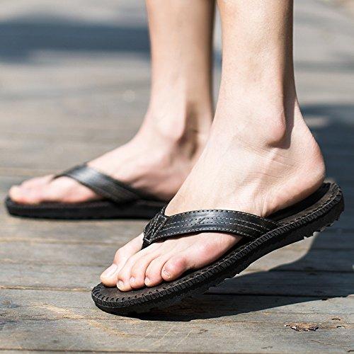 Men's chaussons chaussons d'été pincée fond mou de porter des sandales sandales plate-forme trendsetter britannique Black