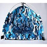 Dog House, Cute Pet Tent for Puppy, Dog, Cat. Best Portable Folding Pet Tent House - Blue