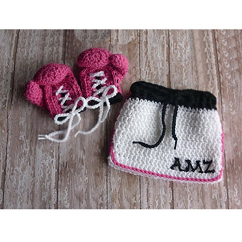 Handgefertigt Infant Neugeborene Mädchen Jungen Crochet Knit Champion -
