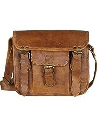 Creature CRTSL_025 Tan Color Genuine Leather Unisex Sling Bag