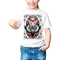 Three Monkeys Multiplikation Art Animals Collection Girls Classic Crew Neck T-Shirt