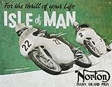 Enseigne Métal Rétro Mural Star 55 Garage Moto Île De Man