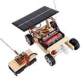 YeahiBaby Legno Auto Solare Fai da Te assemblare Set Giocattolo Auto Alimentato a energia Solare Scienza Ambiente educativo Tech Regali per Kit Ragazzi e Ragazze Toddler