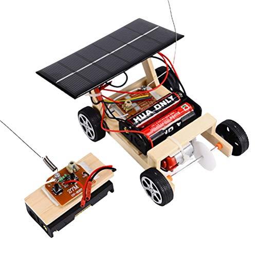 YeahiBaby Madera Coche Solar Juego de Juguetes para ensamblar con Bricolaje Kit de Coche con energía Solar Ciencia Entorno Educativo Tecnología Regalos para Kits Niños y niñas Niños pequeños