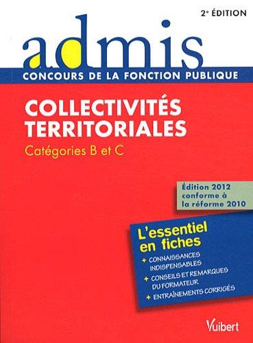 Collectivités territoriales : Catégories B et C