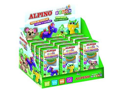 Alpino Magic Dough - Expositor 12 plastilinas