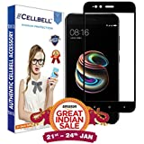 CELLBELL Full Covered Tempered Glass Screen Protector For Xiaomi Mi A1- (Black) With Installation Kit