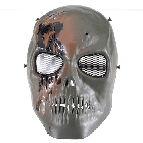 Skull Skeleton Army Paintball BB Gun Full Ghost Face Game Mask