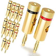 [20 piezas] deleyCON Kit Conectores Banana Sets / bafles / amplificadores / receptores AV / transformadores de salida / hi-fi / equipos stereo