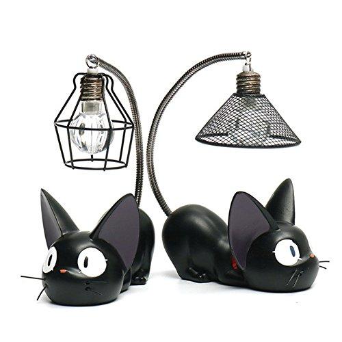 Kiki 's Delivery Service Figuras para gatos, 2 piezas, para estudio Ghibli Miyazaki de entrega figura